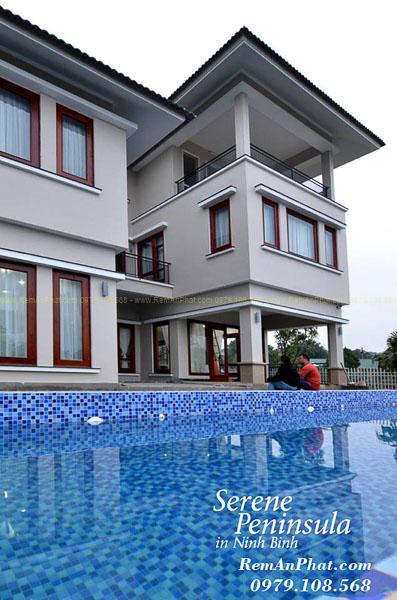 Thi công rèm cửa tại Resort Ninh Bình