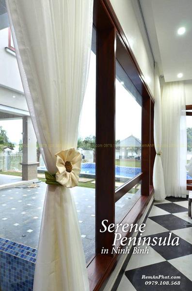 Thi công rèm cửa tại Resort Serene Penisulla Ninh Bình