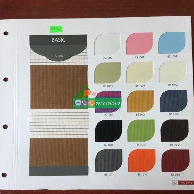 Lựa chọn màu sắc cho rèm cầu vồng Hàn Quốc Modero mã Basic