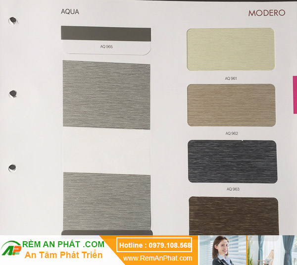 Lựa chọn màu sắc cho rèm cầu vồng Hàn Quốc Modero mã AQUA