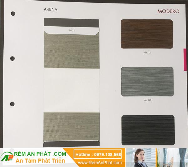 Các lựa chọn màu sắc cho rèm cầu vồng Hàn Quốc Modero mã Arena