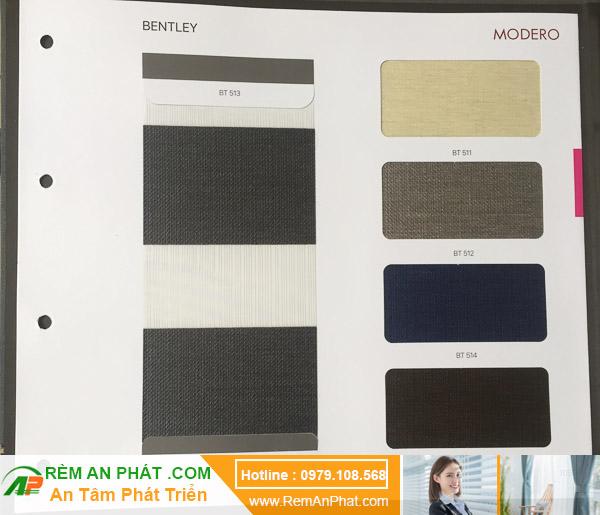 Các lựa chọn màu sắc cho rèm cầu vồng Hàn Quốc Modero mã Bentley