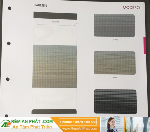 Các lựa chọn màu sắc cho rèm cầu vồng Hàn Quốc Modero mã Carmen