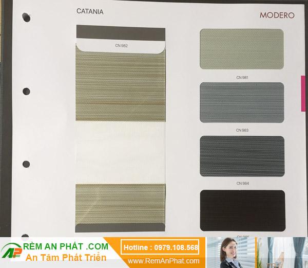 Các lựa chọn màu sắc cho rèm cầu vồng Hàn Quốc Modero mã Catania