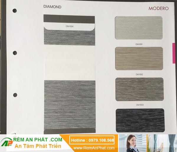 Các lựa chọn màu sắc cho rèm cầu vồng Hàn Quốc Modero mã Diamond