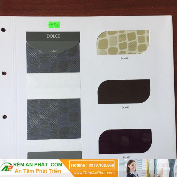 Các lựa chọn màu sắc cho rèm cầu vồng Hàn Quốc Modero mã Dolce
