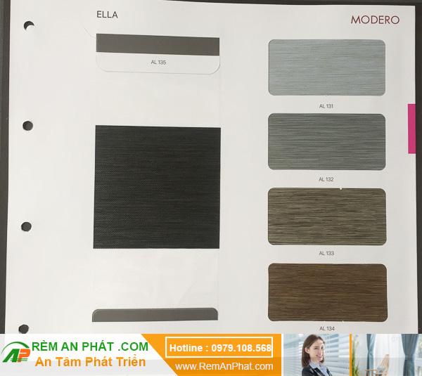 Các lựa chọn màu sắc cho rèm cầu vồng Hàn Quốc Modero mã Ella