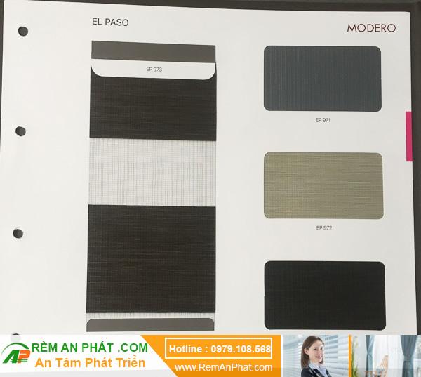 Các lựa chọn màu sắc cho rèm cầu vồng Hàn Quốc Modero mã Elpaso