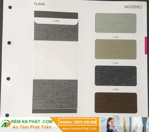Các lựa chọn màu sắc cho rèm cầu vồng Hàn Quốc Modero mã Flavia