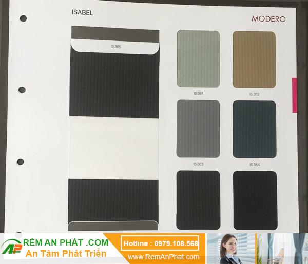 Các lựa chọn màu sắc cho rèm cầu vồng Hàn Quốc Modero mã Isabel
