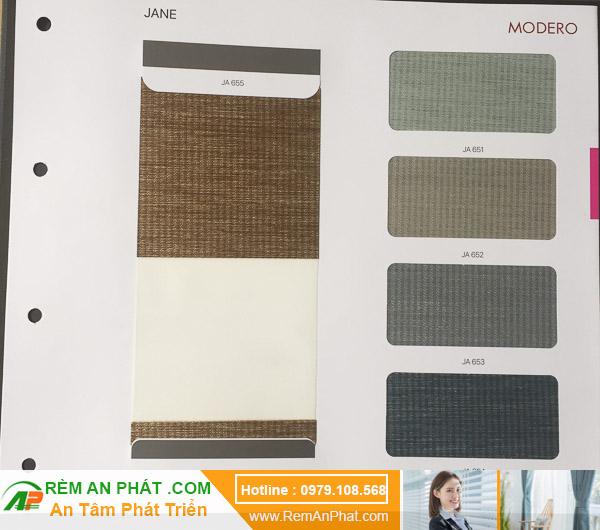 Các lựa chọn màu sắc cho rèm cầu vồng Hàn Quốc Modero mã Jane