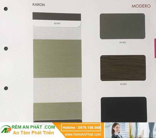 Các lựa chọn màu sắc cho rèm cầu vồng Hàn Quốc Modero mã Karon