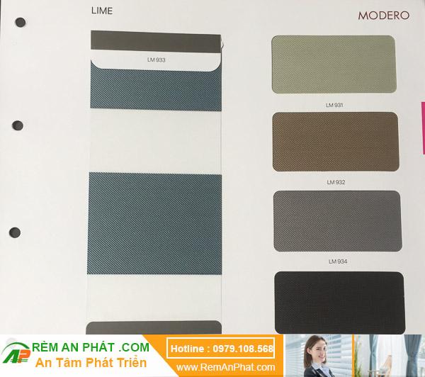 Các lựa chọn màu sắc cho rèm cầu vồng Hàn Quốc Modero mã Lime