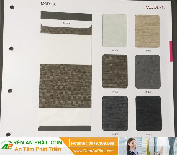 Các lựa chọn màu sắc cho rèm cầu vồng Hàn Quốc Modero mã Modica