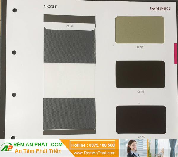 Các lựa chọn màu sắc cho rèm cầu vồng Hàn Quốc Modero mã Nicole