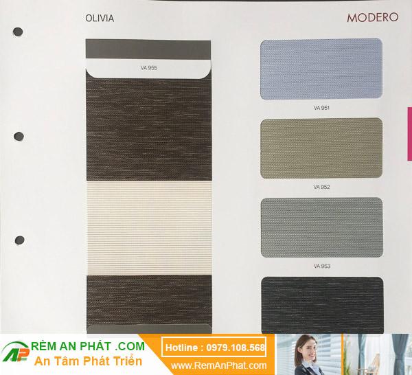 Các lựa chọn màu sắc cho rèm cầu vồng Hàn Quốc Modero mã Olivia