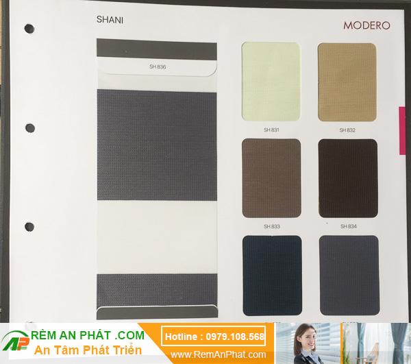 Các lựa chọn màu sắc cho rèm cầu vồng Hàn Quốc Modero mã Shani