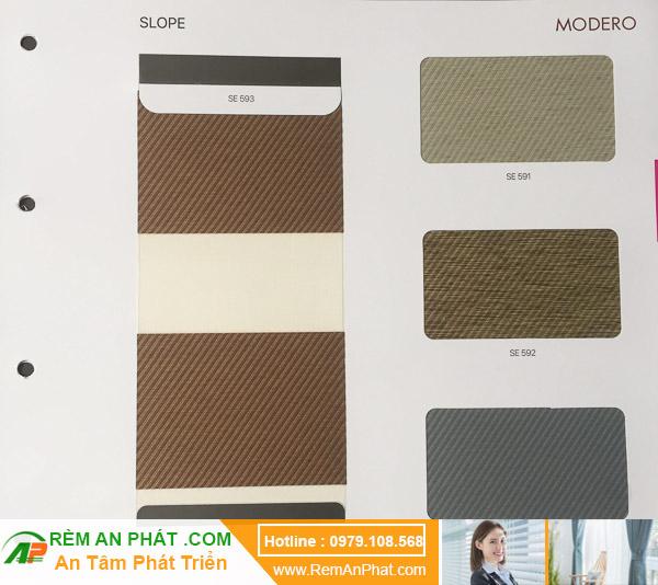 Các lựa chọn màu sắc cho rèm cầu vồng Hàn Quốc Modero mã Slope