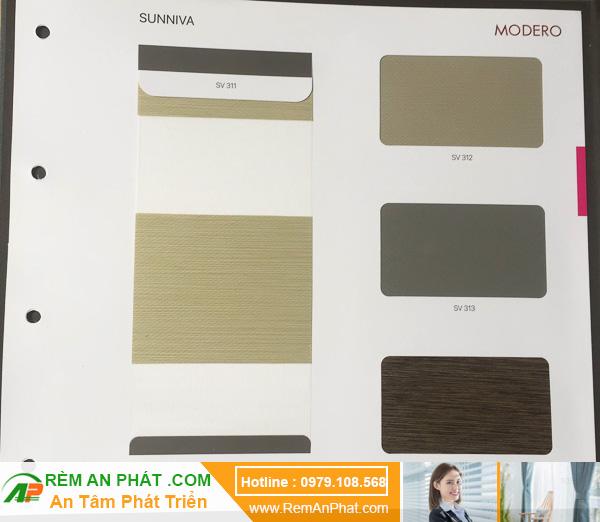 Các lựa chọn màu sắc cho rèm cầu vồng Hàn Quốc Modero mã Sunniva