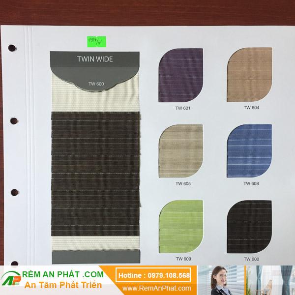 Các lựa chọn màu sắc cho rèm cầu vồng Hàn Quốc Modero mã Twin-wide