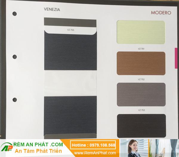 Các lựa chọn màu sắc cho rèm cầu vồng Hàn Quốc Modero mã Venezia