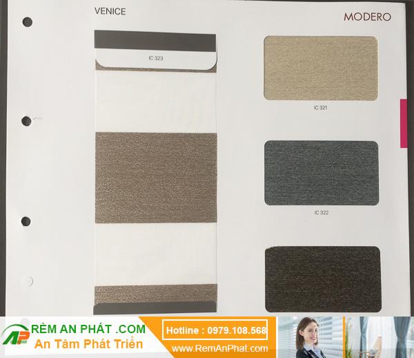 Các lựa chọn màu sắc cho rèm cầu vồng Hàn Quốc Modero mã Venice