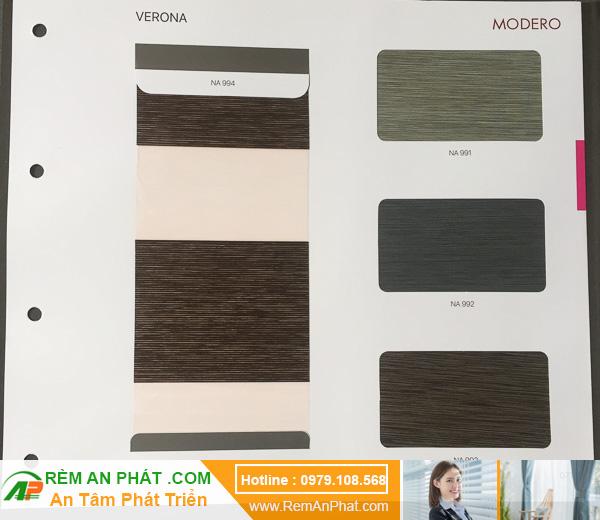 Các lựa chọn màu sắc cho rèm cầu vồng Hàn Quốc Modero mã Verona