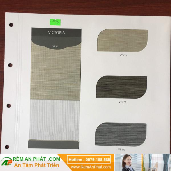 Các lựa chọn màu sắc cho rèm cầu vồng Hàn Quốc Modero mã Victoria