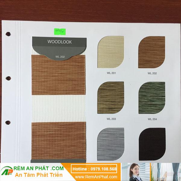 Các lựa chọn màu sắc cho rèm cầu vồng Hàn Quốc Modero mã WoodLook