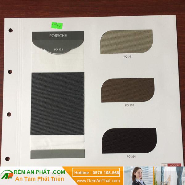 Các lựa chọn màu sắc cho rèm cầu vồng Hàn Quốc Modero mã Porshe